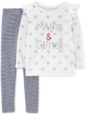 Girls 2-Pc. Magic & Glitter Top & Leggings Set