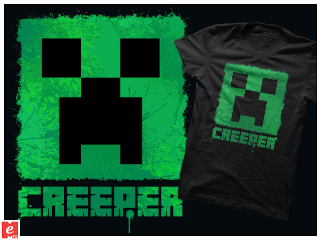 Tshirt+buy online+redbubble+gift idea+cool+creeper+minecraft