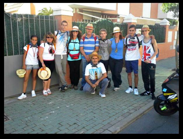 Mi grupo de peregrinos antes de salir