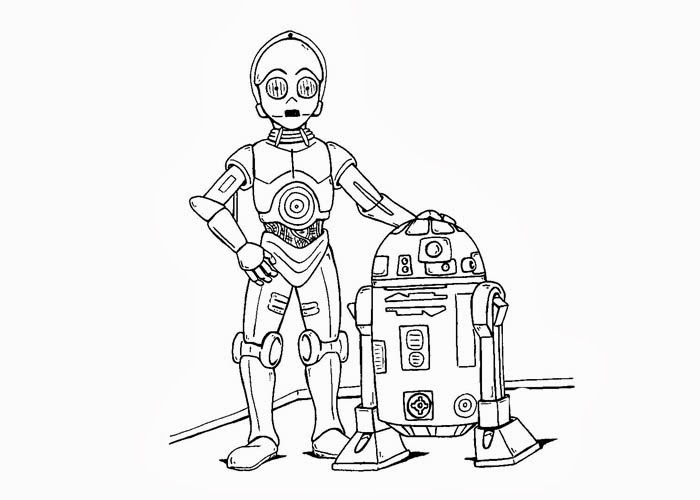 Star wars robots coloring pages