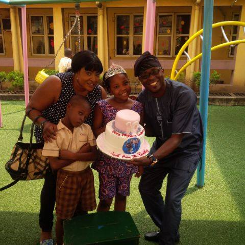 Photos: Actress Foluke Daramola & Her Hubby Throw Birthday Party For Their Daughter