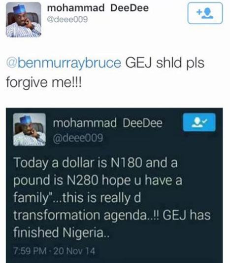 GEJ officially forgives man who insulted him over N180/$ exchange rate in 2014