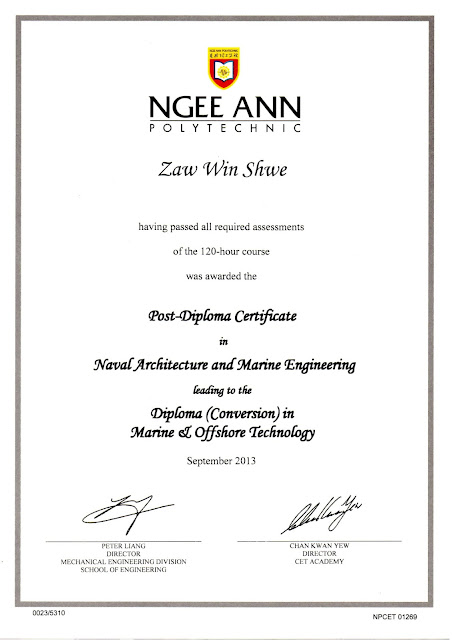 Post Diploma in Naval Architecture and Marine Engineering