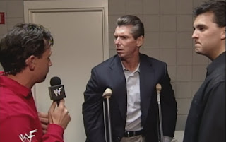 WWE / WWF Fully Loaded 1999 - Michael Cole confronts Vince & Shane McMahon about tonight's show