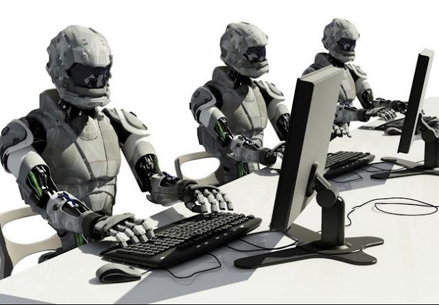 CUIDADO trabajo sustituido ROBOT