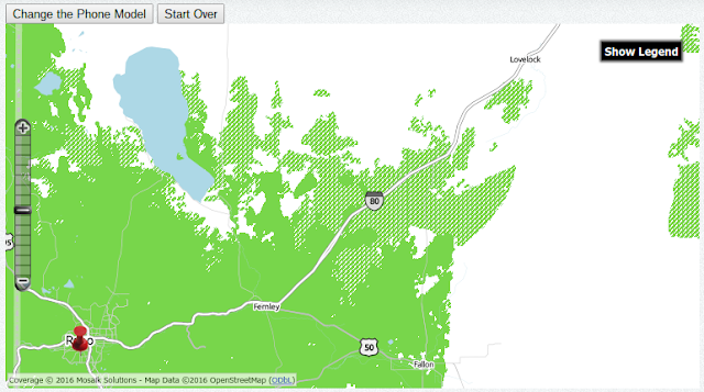 TracFone AT&T GSM Map Showing Nissing Roaming