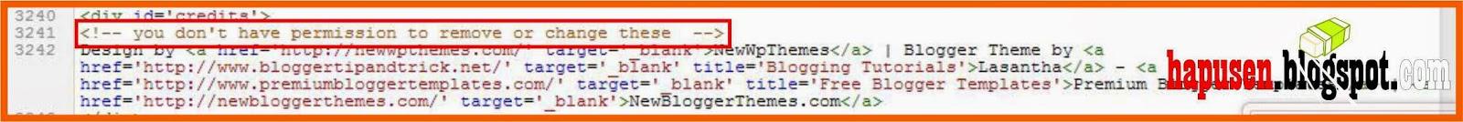 Belajar cara menghapus kode html blog