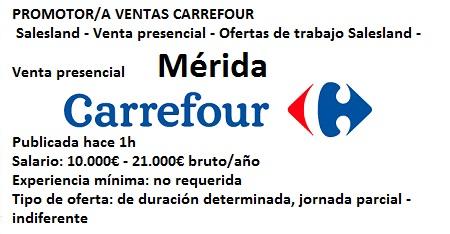 Lanzadera de Empleo Virtual Badajoz. Oferta Carrefour, Mérida