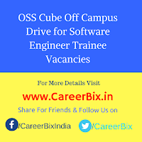 OSS Cube Off Campus Drive for Software Engineer Trainee Vacancies
