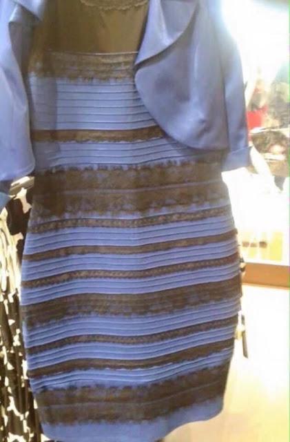 White and gold or black and blue dress