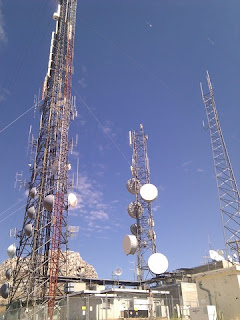 Radio towers atop Fremont Peak