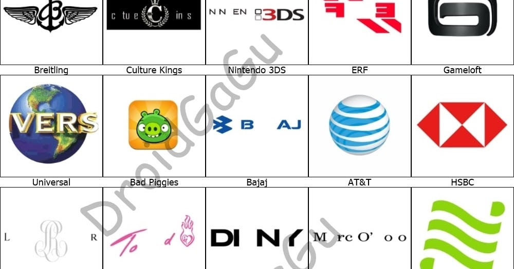 Logos Quiz answers Level 1 t