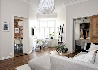 Дизайн-проекты. Очаровательная небольшая квартира в Гетеборге