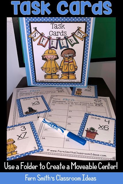 You will love this BUNDLE of Spring Single Digit and Double Digit Multiplication Task Cards, Recording Sheets and Answer Keys! It is so easy to prepare these task cards for your centers, small group work, scoot, read the room, homework, seat work, the possibilities are endless. Your students will enjoy the freedom of task cards while learning and reviewing important skills at the same time! Perfect for review while you work with your small groups. Students can answer in your classroom journals or with the included three different recording sheets. Perfect for an assessment grade for the week. Seventy-two {72} colored task cards, seventy-two black and white task cards, six print and go worksheets and six answer keys that can be used as self-checking sheets for any math center. Add some rigor and fun to your math class with these Spring task cards! #FernSmithsClassroomIdeas