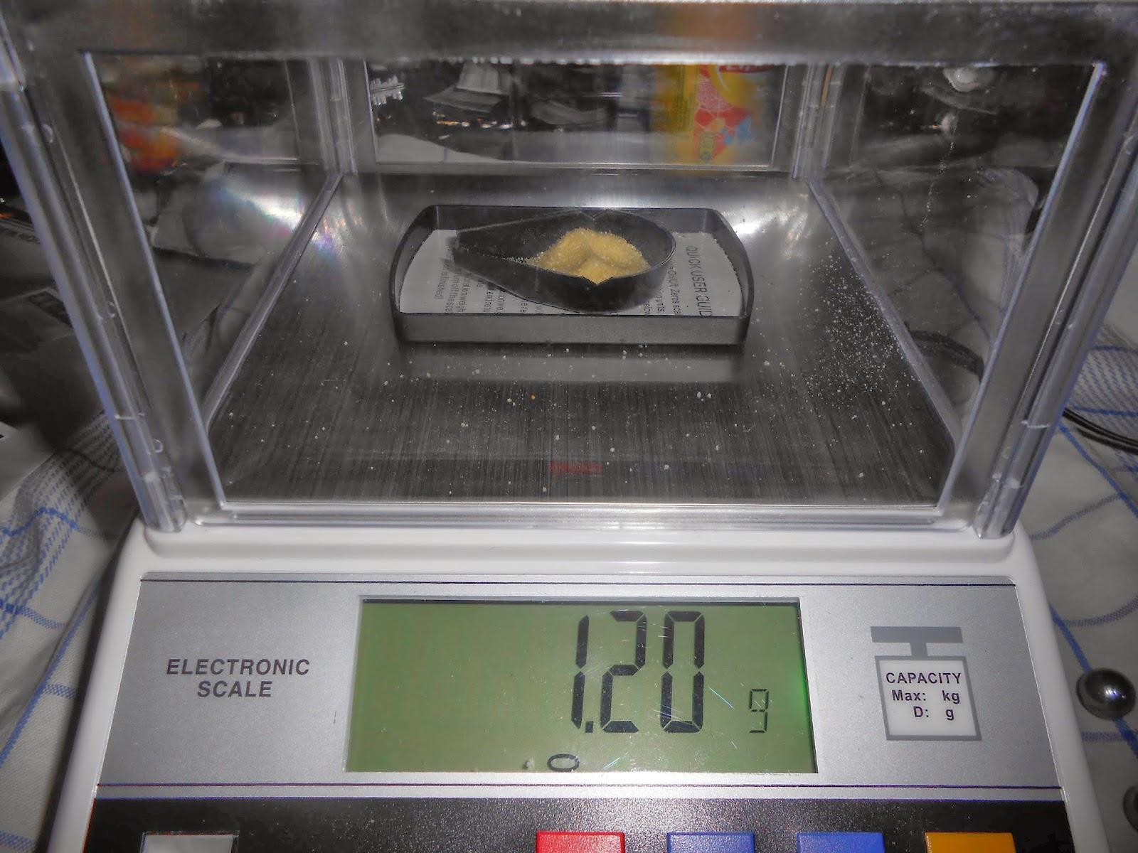 balance precise semoule ou polenta