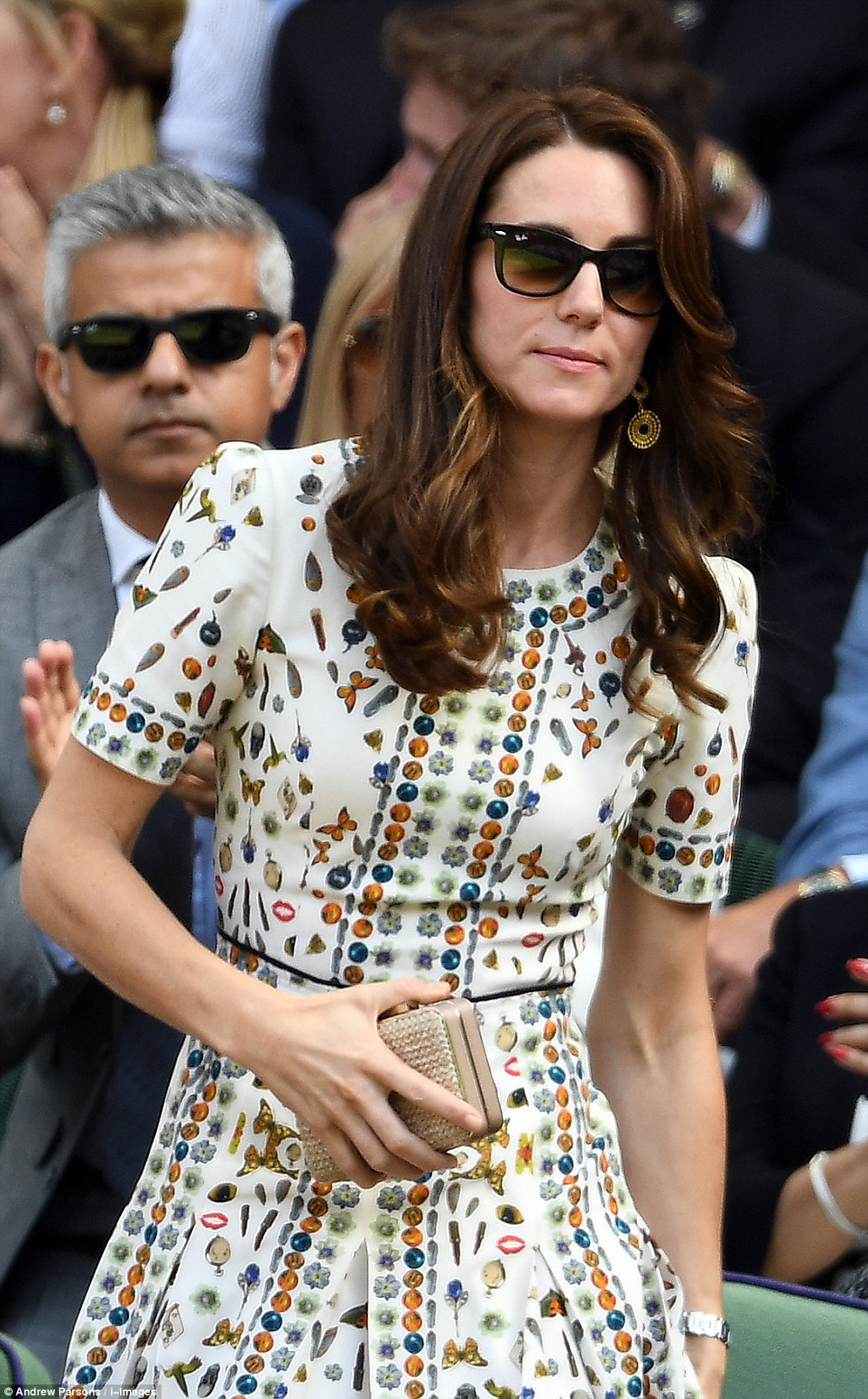 Kate Middleton wears Alexander McQueen to watch the 2016 Wimbledon Final