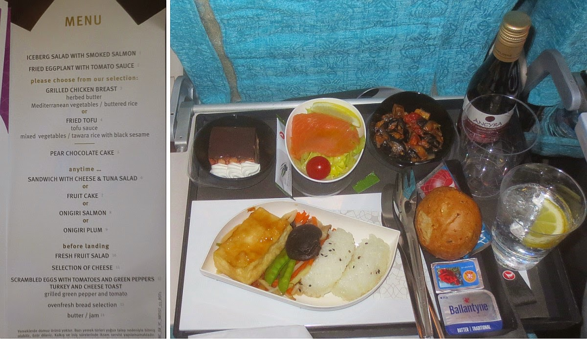 Turkish Airlines - Speisekarte Economy Class