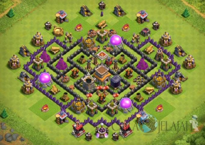 Base Trophy TH 8 di Clash Of Clans Terbaru Tipe 11
