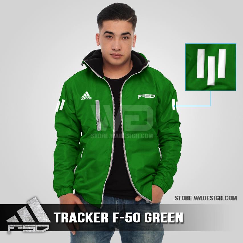 Jaket Tracker Waterproof Adidas F-50 Hijau