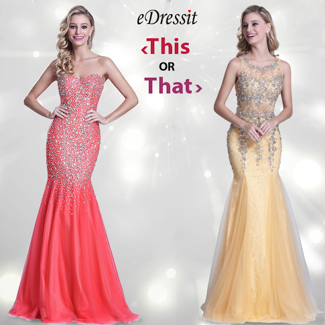 Strapless Sweetheart Beaded Coral Prom Gown