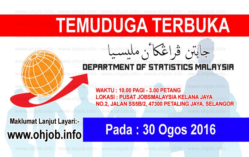 Jawatan Kerja Kosong Jabatan Perangkaan Negeri Selangor logo www.ohjob.info ogos 2016