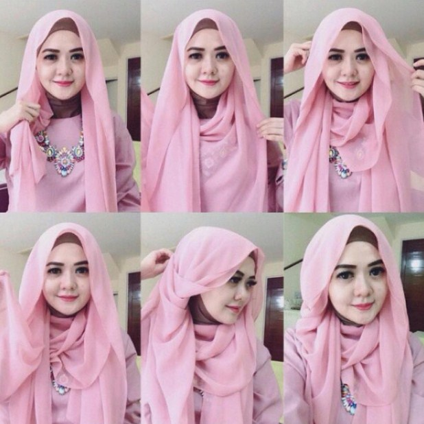 Gambar Cara Memakai Hijab Trendy dan Simple 69b8b5ac7c