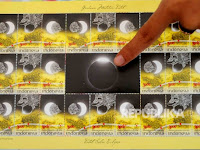 Stamp solar eclipse edition sold for IDR 100,000