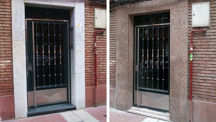 proyecto obra reforma portal contadores electricidad agua - fachada