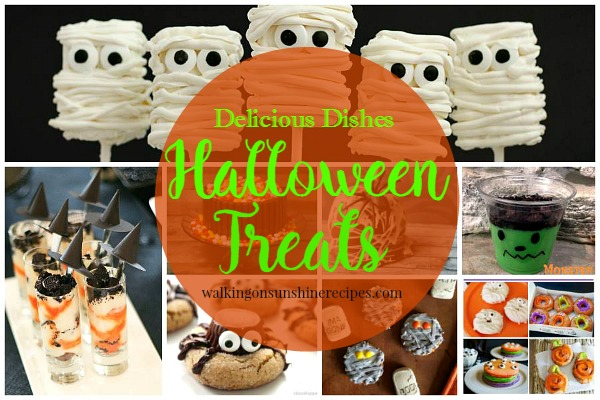 Another great collection of Halloween Treats featured on Walking on Sunshine Recipes.