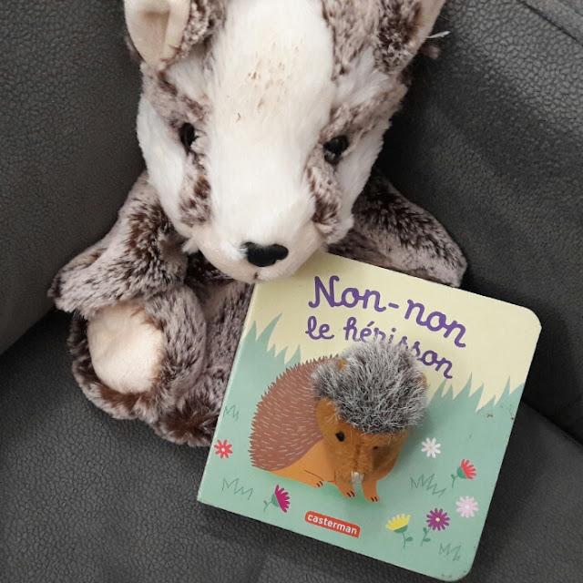 Non-non le hérisson d'Hélène Chetaud, le livre-marionnette qui dit non