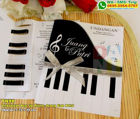 Undangan Pop Up Piano Juang Dan Putri