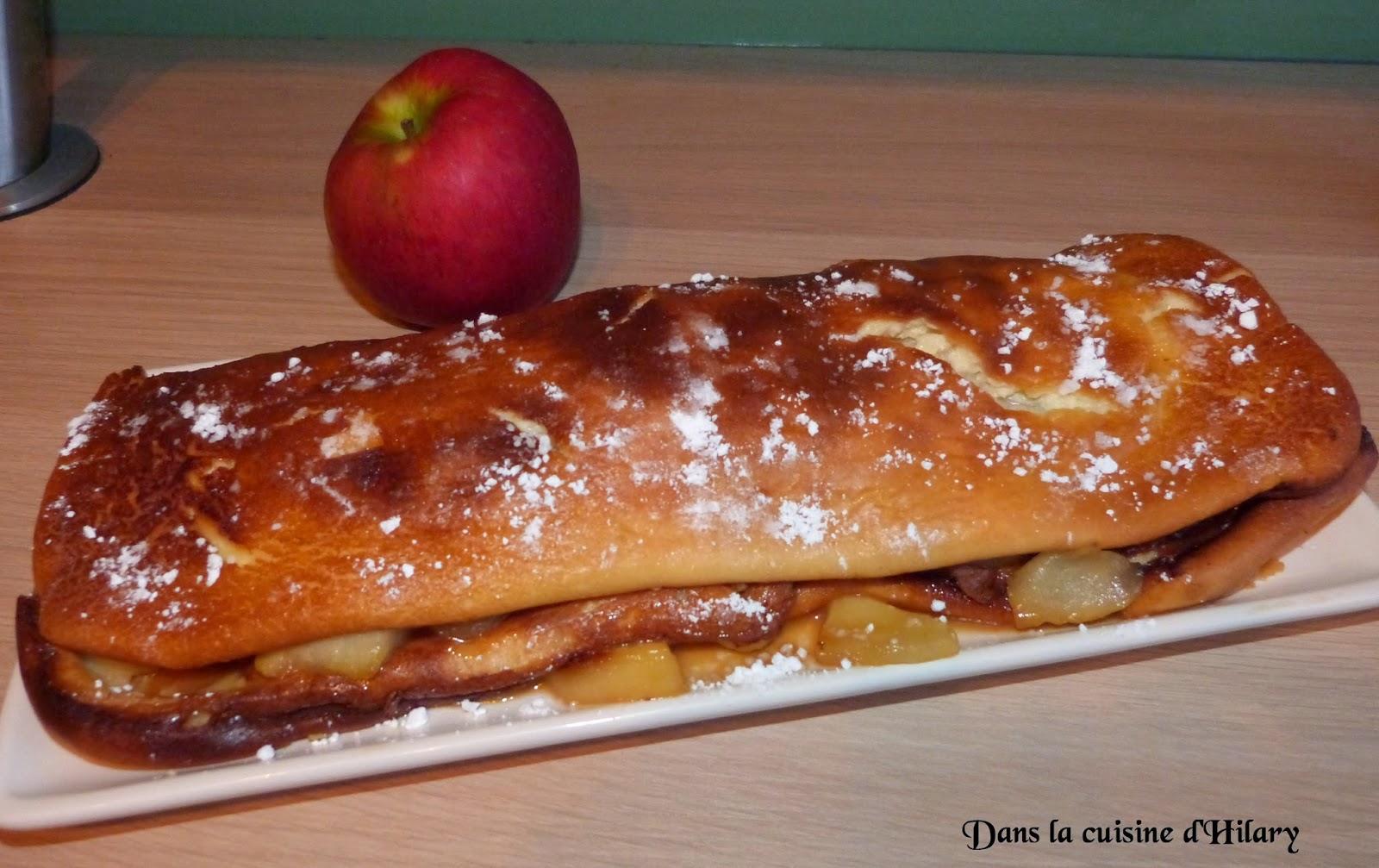 Crêpe farcie aux pommes et caramel beurre salé