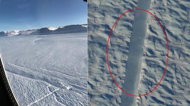 Una gran Grieta se ha formado en un Glaciar de Groelandia, y los científicos no se explican cómo