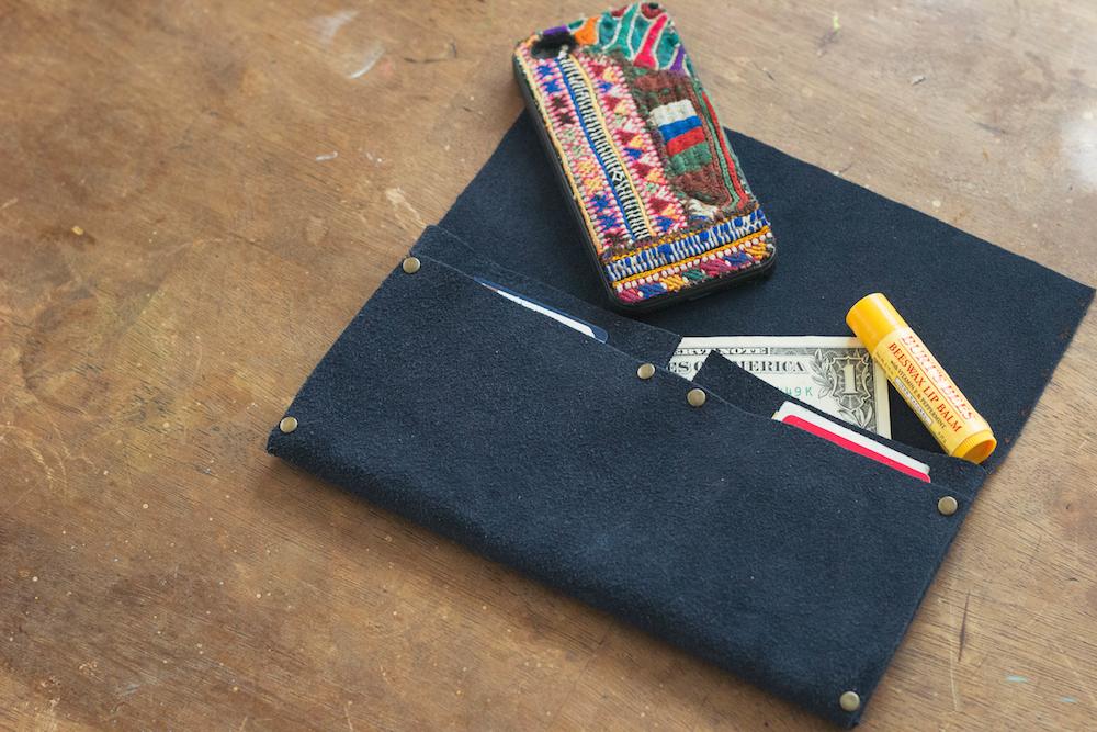 always rooney: No Sew Clutch Wallet | DIY