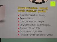 Info: Tragbare elektronische Waage Gepäckwaage silber