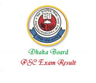 PSC Result 2018 Dhaka Board - www.dpe.gov.bd