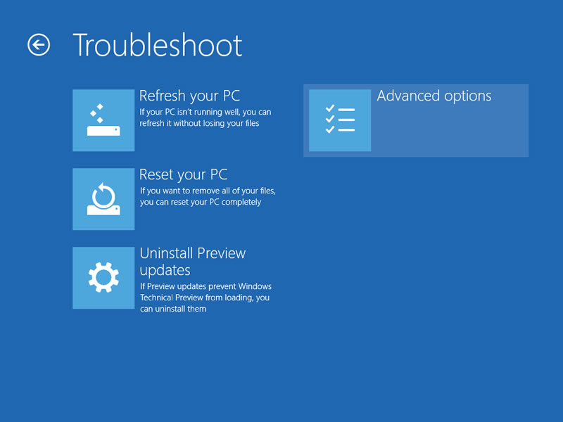 【Windows Technical Preview】セーフモード 2