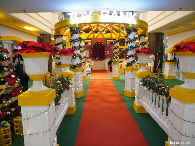 The Toy Bank is located at Whimsical Christmas Garden on the ground floor concourse area