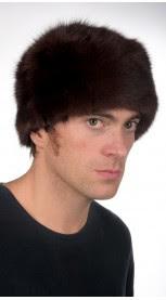 Sable fur hat for men