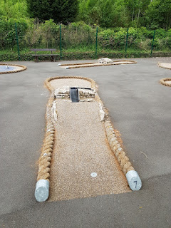 The Crazy Golf course at Promenade Park in Grange-over-Sands