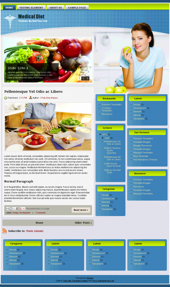 Best For Doctors Medical Diet Blogger Template