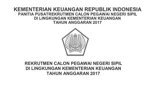Lowongan Kerja  Rekrutmen CPNS Kementerian Keuangan  2017 [2880 Formasi]  Juni 2018