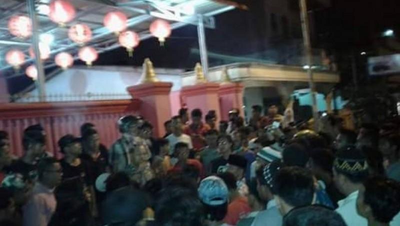 Suasana saat kerusuhan di Tanjung Balai
