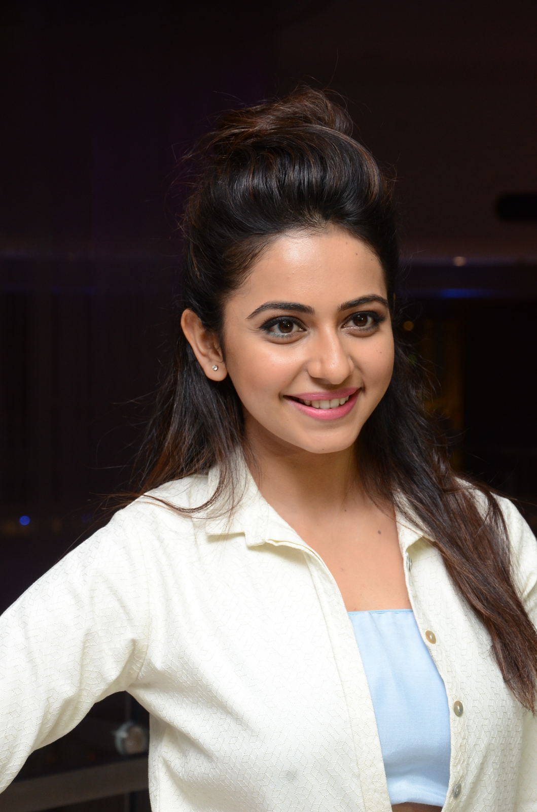 Rakul Preet Hot Pics In White Dress
