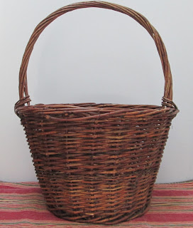 Twisted Hoop Handle Grapevine Basket