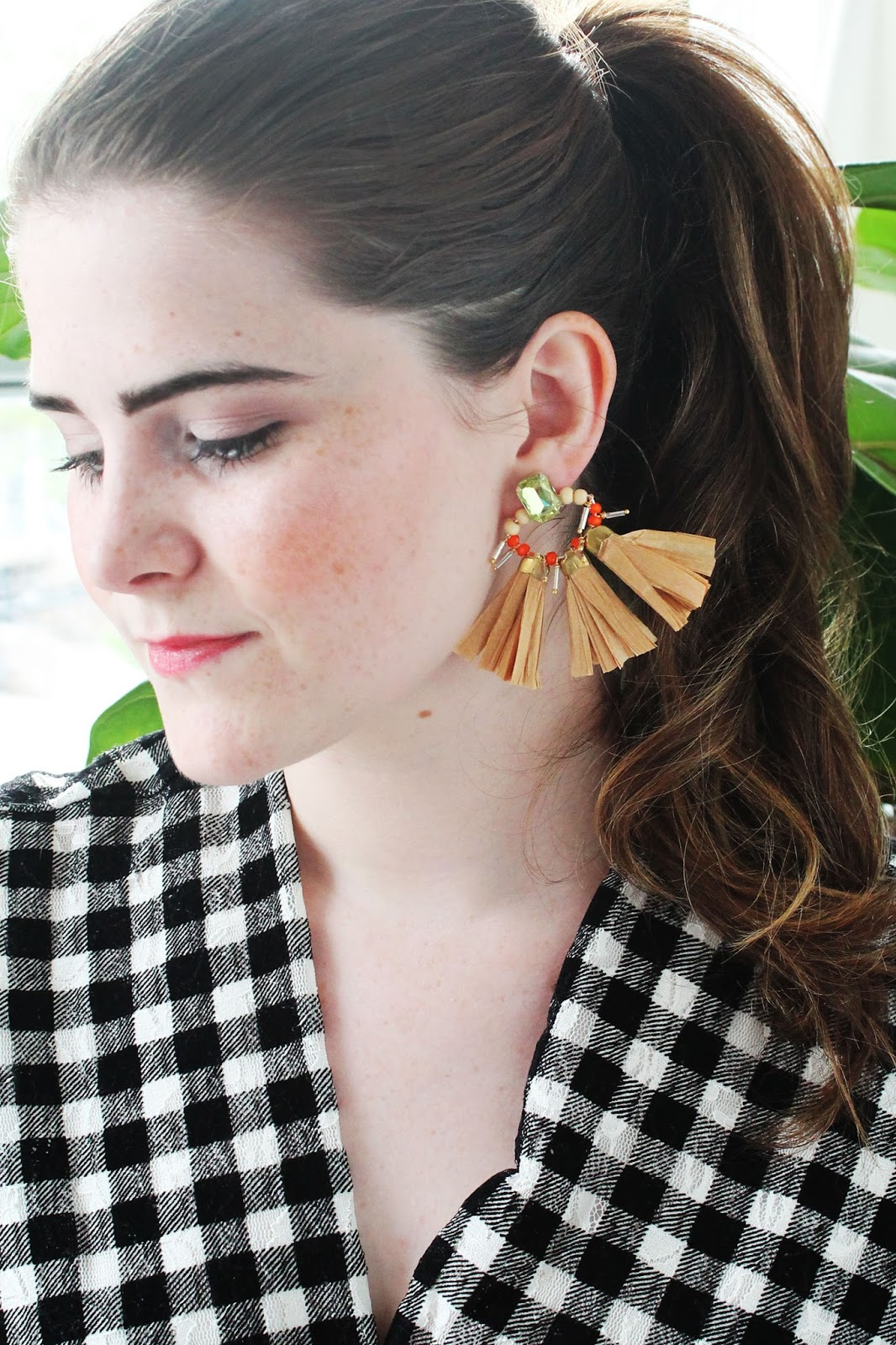 Make Raffia Tassel Earrings