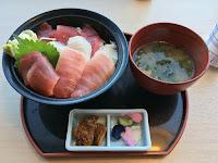Tennen Maguro - kawałki świeżego tuńczyka, ryż, marynowane warzywa