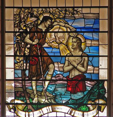 Imagem do batismo de Jesus Cristo, vitral, #1