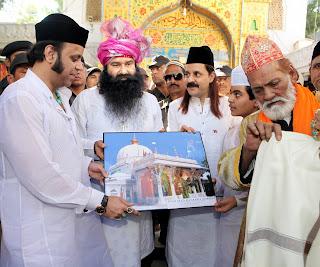 Baba Ram Rahim in Ajmer Sharif Dargah