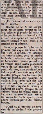 Entrevista a Manuel Tobella en el periódico ABC (1)